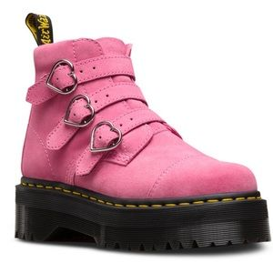 Dr. Martens x Lazy Oaf Pink Suede Boots